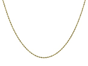 14K Yellow Gold 1.7MM Diamond-Cut Rope Chain 20 Inch Necklace
