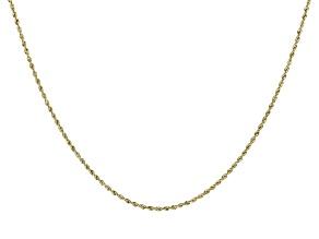 14K Yellow Gold 1.7MM Diamond-Cut Rope Chain