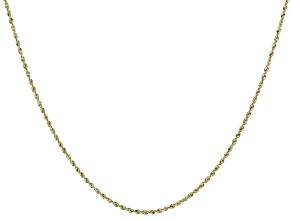 14K Yellow Gold 1.7MM Diamond-Cut Rope Chain 24 Inch Necklace