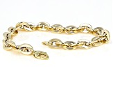 10K Yellow Gold 7MM Cable Link 7.5 Inch Bracelet