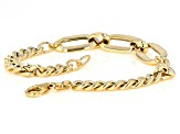 10K Yellow Gold 9MM Curb Link 7.5 Inch Bracelet