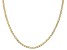 10k Yellow Gold Semi-Solid 2.5mm Mariner Chain 20 inch Necklace
