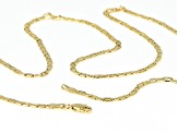 10k Yellow Gold Semi-Solid 2.5mm Mariner Chain 24 inch Necklace