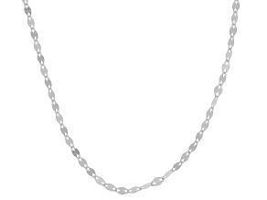 10K White Gold 1.9MM Flat Mirror Chain