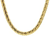 18k Yellow Gold Over Bronze Byzantine Necklace 20 inch