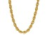 18k Yellow Gold Over Bronze Soft Rope Link Necklace 20 inch
