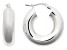 Rhodium Over Bronze Round Hoop Earrings