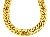 Moda Al Massimo® Bevelled Curb Link 18k Over Bronze 22 inch Necklace    Made in Italy
