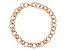 18k Rose Gold Over Bronze Rolo Link Bracelet 8 inch