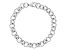 Rhodium Over Bronze Rolo Link Bracelet 8 inch