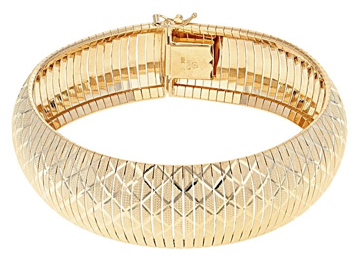 6 inches IJ  SI bangle-bracelets Size 18K Yellow Gold 1.2 cttw Round-Cut-Diamond