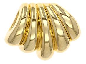 18k Yellow Gold Over Bronze Artformed Waterfall Slide Pendant