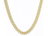 18k Yellow Gold Over Bronze Sedusa Link Chain Necklace 20 inch 8.5mm