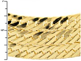 18k Yellow Gold Over Bronze Collar Style Herringbone Link Necklace 19 inch