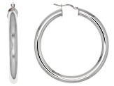 Moda Al Massimo® Rhodium Over Bronze 51mm X 6mm Polished Hoop Earrings