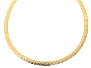 18k Yellow Gold Over Bronze Omega Link Necklace 18 inch