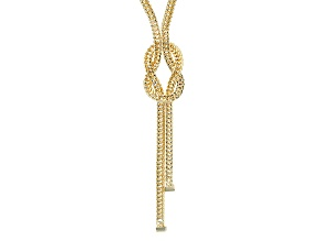 18k Yellow Gold Over Bronze Tassle Necklace 20 inch