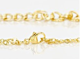 18k Yellow Gold Over Bronze Curb Link Necklace 20.5 inch