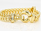 18k Yellow Gold Over Bronze infinity Link Bracelet 7.5 inch