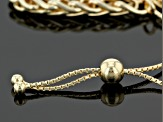 18k Yellow Gold Over Bronze Spiga Link Sliding Adjustable Bracelet