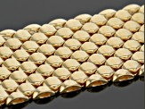 18k Yellow Gold Over Bronze Honey Comb Bracelet 7.5 inch