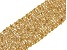 18k Yellow Gold Over Bronze Woven Bracelet 7.5 inch