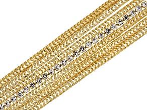 0.4ctw Cubic Zirconia 18k Yellow Gold Over Bronze Bracelet 7.5 inch