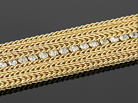 0.4ctw Cubic Zirconia 18k Yellow Gold Over Bronze Bracelet 7.5 inch
