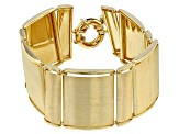 18k Yellow Gold Over Bronze Square Bracelet 7.5 inch