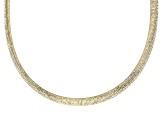 18k Yellow Gold And Rhodium Over Bronze Reversible Omega Necklace