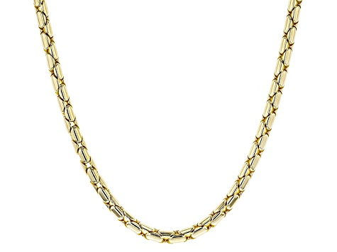 18k Yellow Gold Over Bronze Snake Chain Necklace 20 inch