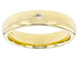 0.015ctw Diamond Simulant 18k Yellow Gold Over Bronze Band Ring