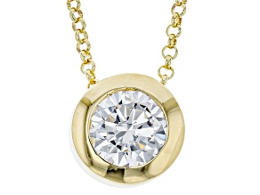 1.5ctw White Diamond Simulant 18k Yellow Gold Over Bronze Necklace