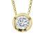 1.5ctw White Diamond Simulant 18k Yellow Gold Over Bronze Necklace