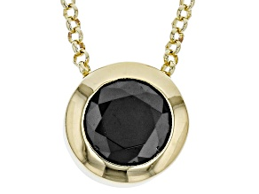 1.5ctw Black Diamond Simulant 18k Yellow Gold Over Bronze Necklace
