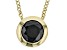 1.5ctw Black Diamond Simulant 18k Yellow Gold Over Bronze Necklace