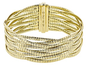 18k Yellow Gold Over Bronze Twisted Bracelet 7.75 inch
