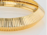 18k Yellow Gold Over Bronze Omega Bracelet 7.5 inch