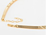18k Yellow Gold Over Bronze Cleopatra Necklace 17 inches