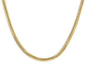 18k Yellow Gold Over Bronze Snake Chain Necklace 18 inch