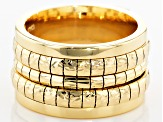 18k Yellow Gold Over Bronze Cubetto Band Ring