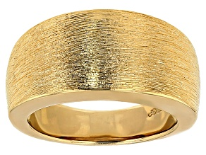 Moda Al Massimo® 18k Yellow Gold Over Bronze Satin Cigar Band Ring