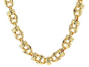 18k Yellow Gold Over Bronze Mariner 20 inch Necklace