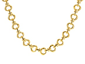 Moda Al Massimo® 18k Yellow Gold Over Bronze Stirrup 19 inch Necklace