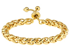 18k Yellow Gold Over Bronze Spiga Bolo Bracelet