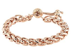 18K Rose Gold Over Bronze Spiga Bolo Bracelet