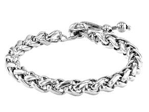Platinum Over Bronze Spiga Bolo Bracelet