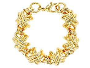 18k Yellow Gold Over Bronze Designer