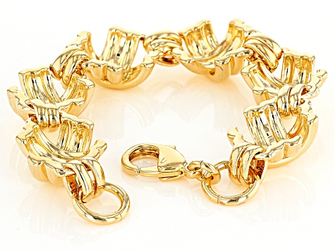 18k Yellow Gold Over Bronze Designer