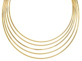 18k Yellow Gold Over Bronze Curbetto Necklace 17 inch